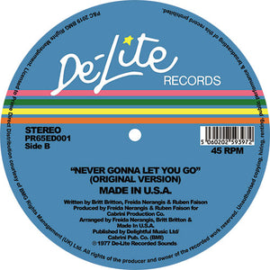 Made In USA 'Never Gonna To Let You Go' (Theo Parrish Ugly Edit) 12""
