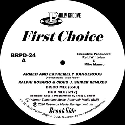 First Choice 'Armed And Extremely Dangerous / Love And Happiness (Remixes)' 12""