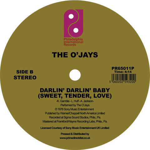The O'Jays 'For the Love of Money / Darlin' Darlin' Baby (Sweet, Tender, Love)' 12""