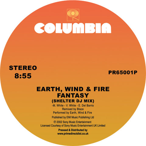 Earth, Wind & Fire Fantasy '(Shelter DJ Mix) / Can't Hide Love (MAW Album Mix)' 12""