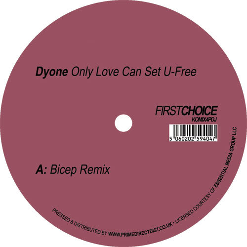 Dyone 'Only Love Can Set U-Free' (Bicep remix) 12""