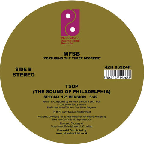 MFSB Feat. The Three Degrees 'Love Is the Message' (12 Inch Version) / TSOP (Special 12 Inch Version)