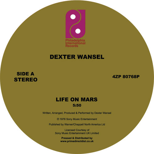 Dexter Wansel 'Life on Mars / The Sweetest Pain' 12""