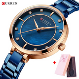 CURREN Women's Watch Waterproof Stainless Steel Quartz Watch