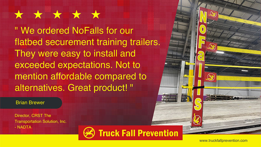 Get the NoFalls flatbed securement to protect your truck drivers and prevent lawsuits