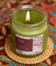 Load image into Gallery viewer, Matcha Latte Geranium Rose Scented Candle