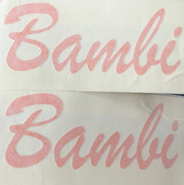 Bedford Bambi camper side stickers x2
