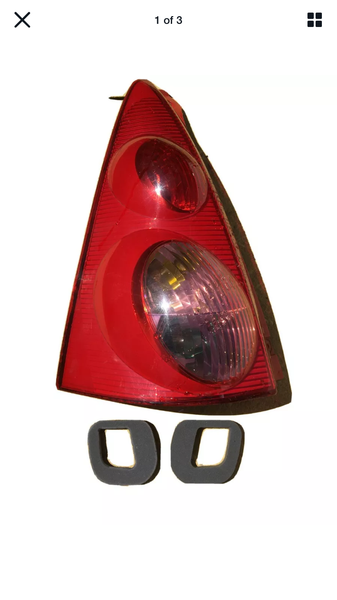 Peugeot 107 rear light cluster seal set both sides!