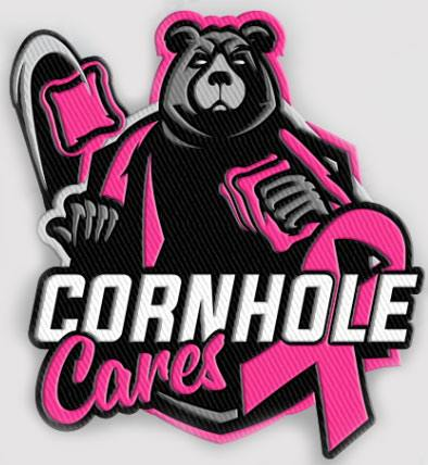 Cornhole Cares for Cancer Awareness Jersey Guy Cornhole Patch- Single