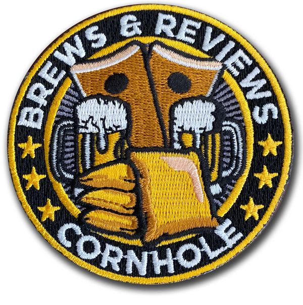 Brews and Reviews Cornhole Patch- Single