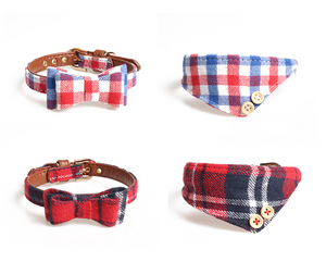 New! Bow collar dog/triangle scarf collar - Our Soul Tonic