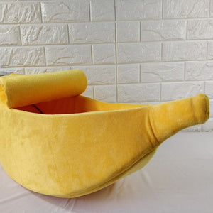 Banana Shaped Cat/Dog Bed - Our Soul Tonic
