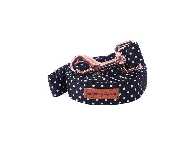 Polka Dot Bow Tie Collar And Leash - Our Soul Tonic