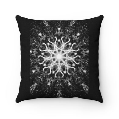 Magick Mandalas 'A Disillusioned Prayer' Spun Polyester Square Pillow Case