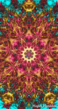 Load image into Gallery viewer, 'Grieve No More' Stretchy Microfiber Multi Use Bandana - Magick Mandalas