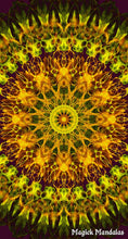Load image into Gallery viewer, 'Hope Within' Stretchy Microfiber Multi Use Bandana - Magick Mandalas