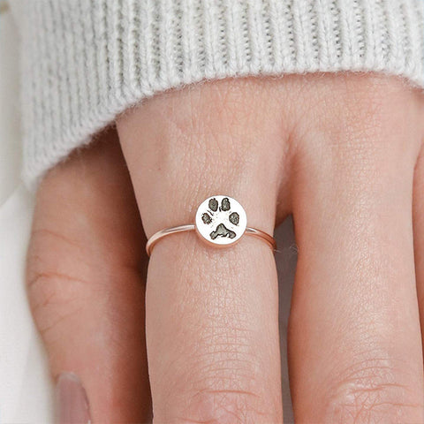Custom Paw Print Ring