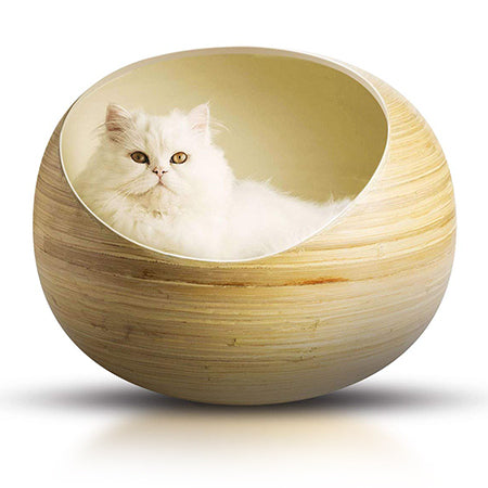 Fhasso Bamboo Cat Bed