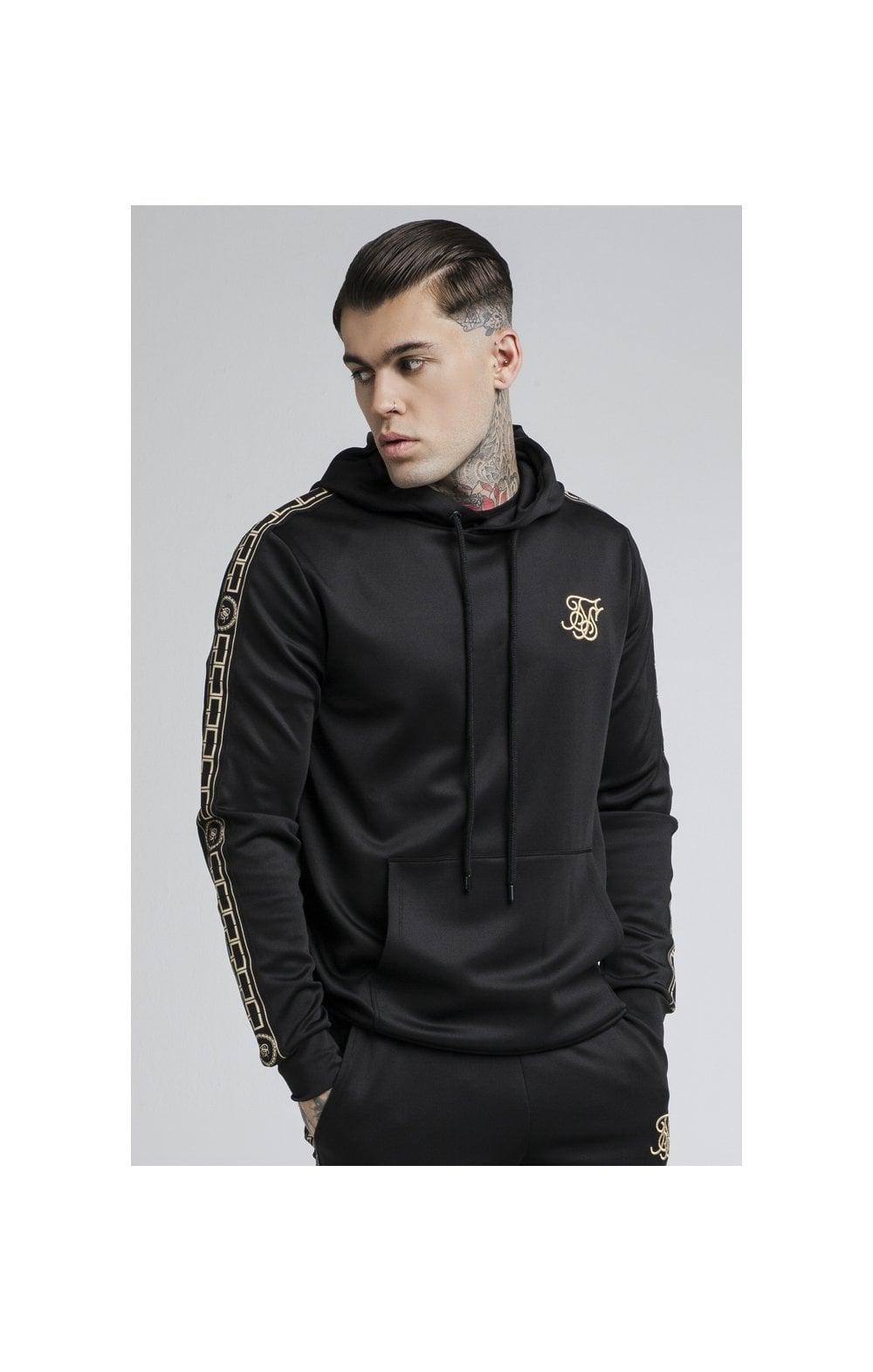 Load image into Gallery viewer, SikSilk Cartel Poly Overhead Hoodie - Black