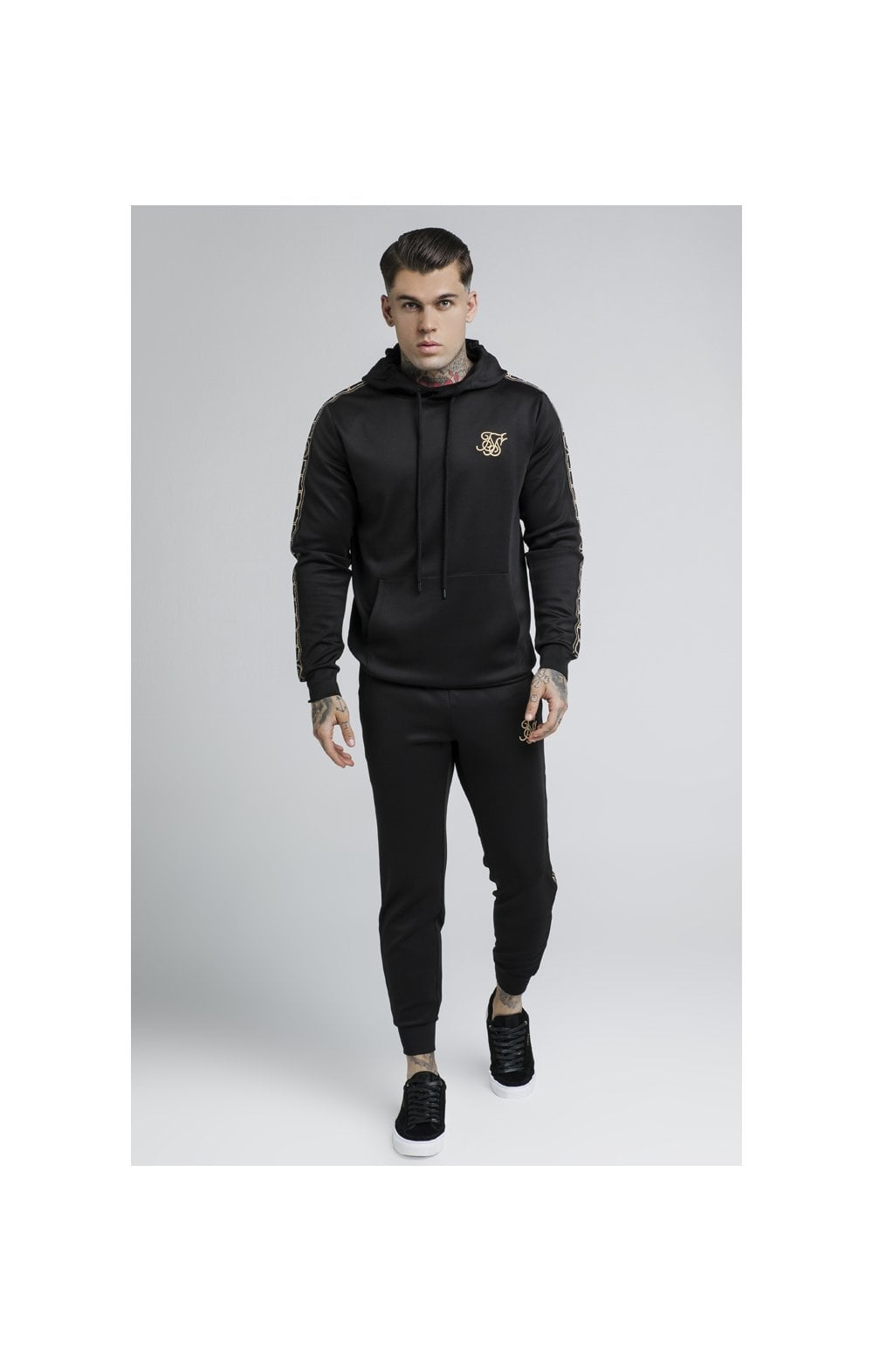 Load image into Gallery viewer, SikSilk Cartel Poly Overhead Hoodie - Black (1)