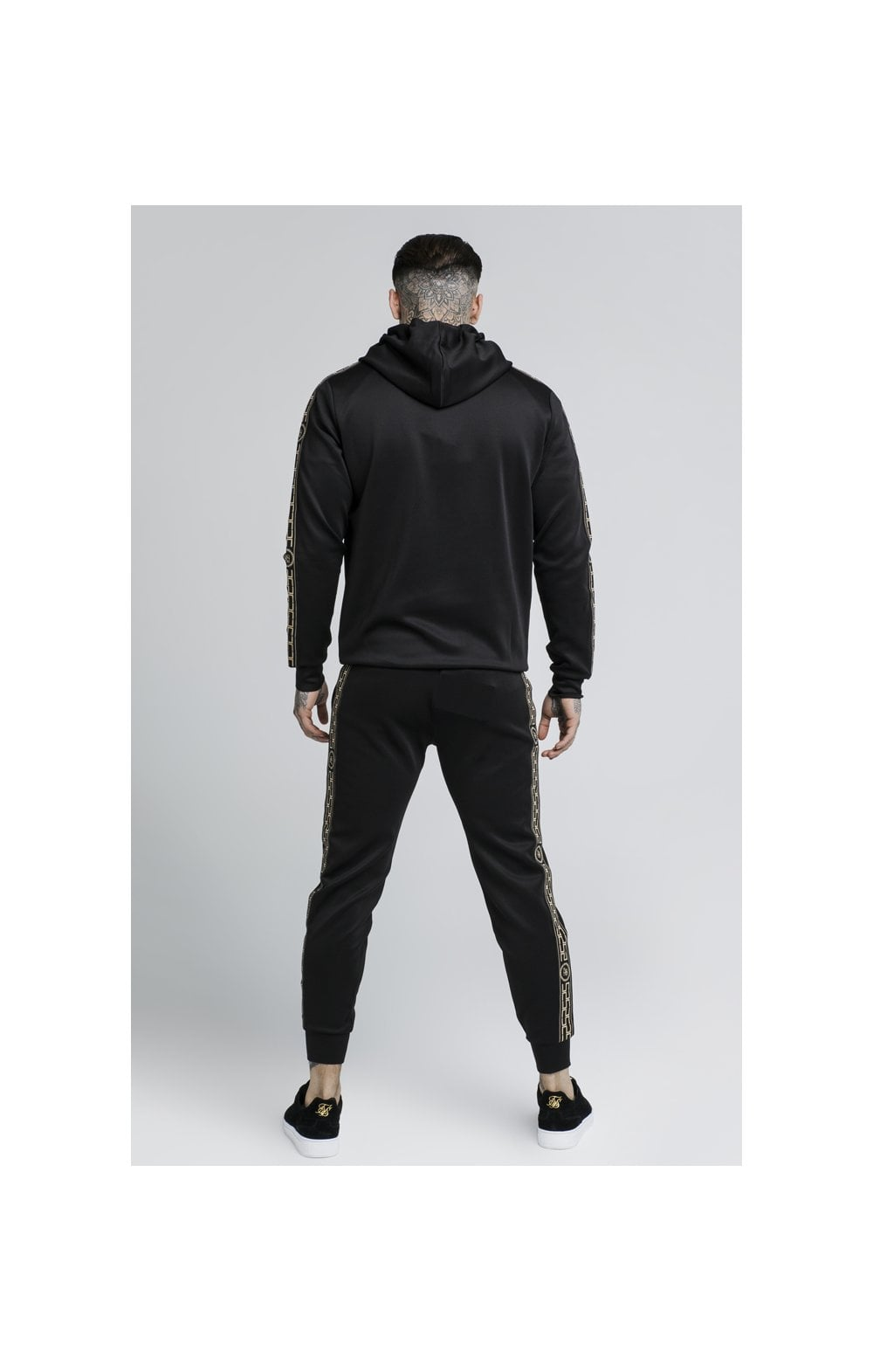 Load image into Gallery viewer, SikSilk Cartel Poly Overhead Hoodie - Black (3)
