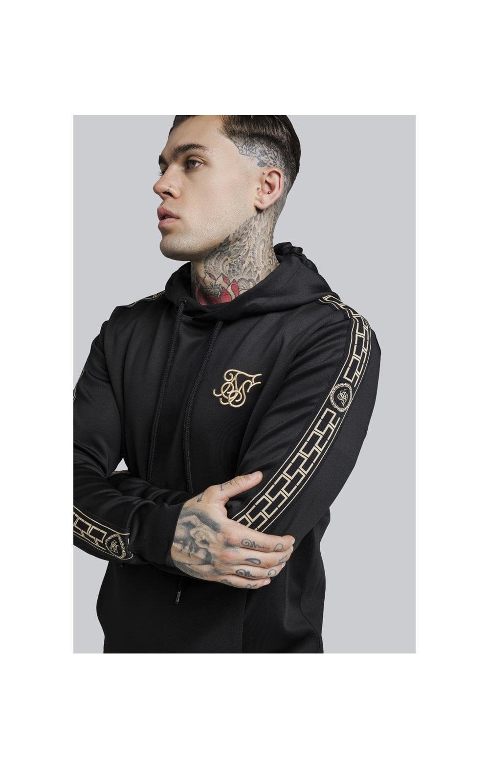 Load image into Gallery viewer, SikSilk Cartel Poly Overhead Hoodie - Black (4)