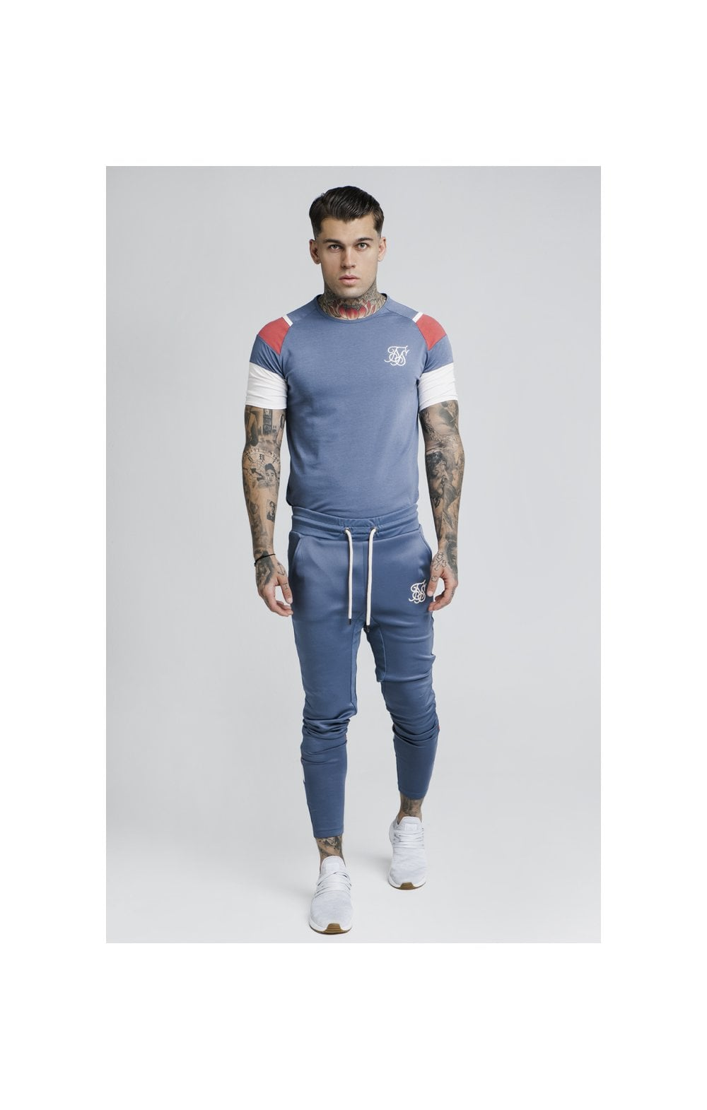 Load image into Gallery viewer, SikSilk S/S Raglan Sprint Tee - Navy (2)
