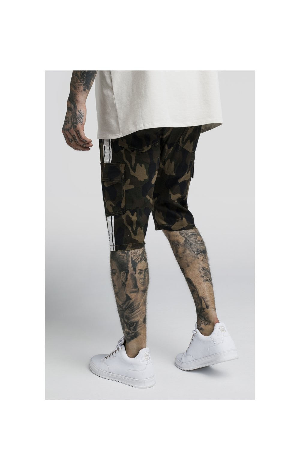 Load image into Gallery viewer, SikSilk Taped Cargo Shorts - Camo (4)