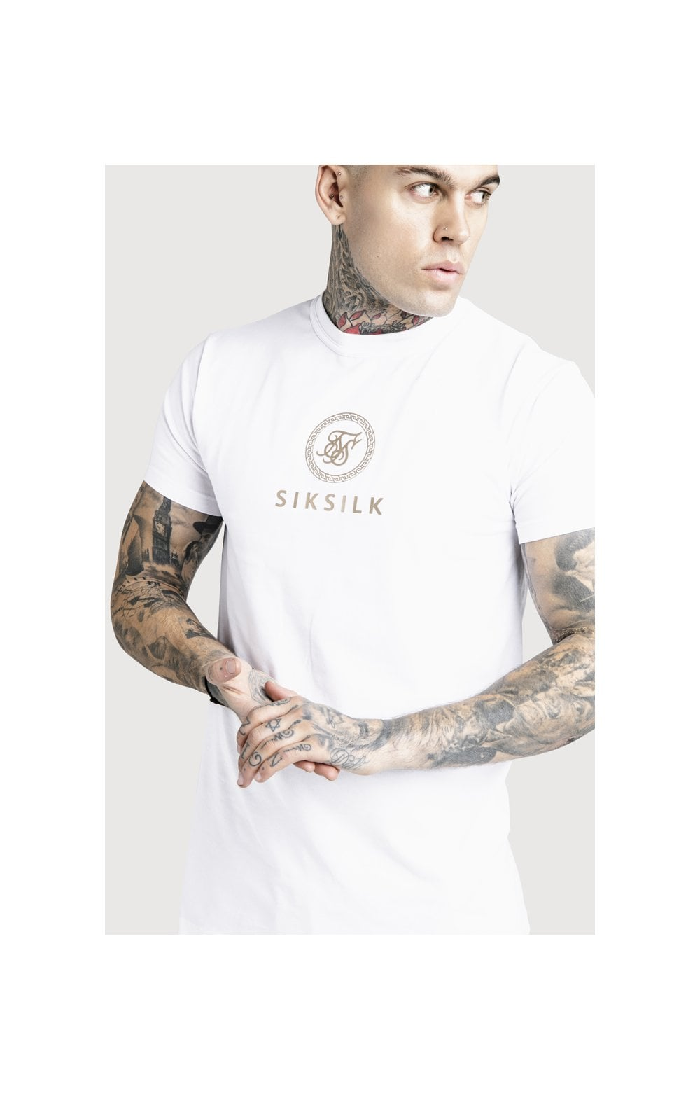 SikSilk x Dani Alves Relaxed Fit Box Tee - White