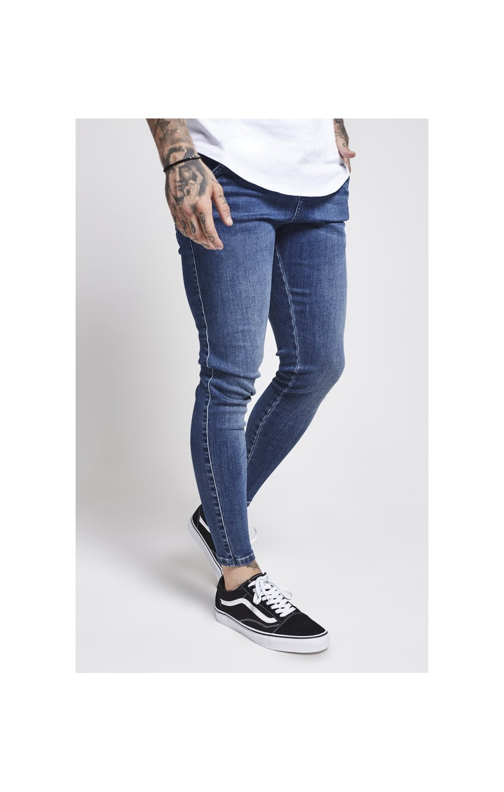 SikSilk Drop Crotch Denims – Midstone