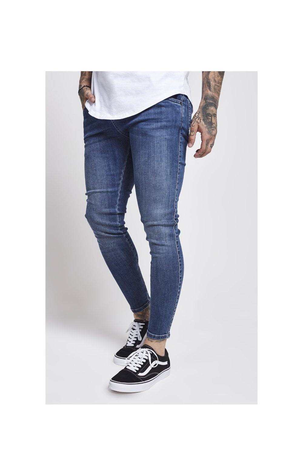 Load image into Gallery viewer, SikSilk Drop Crotch Denims – Midstone (1)