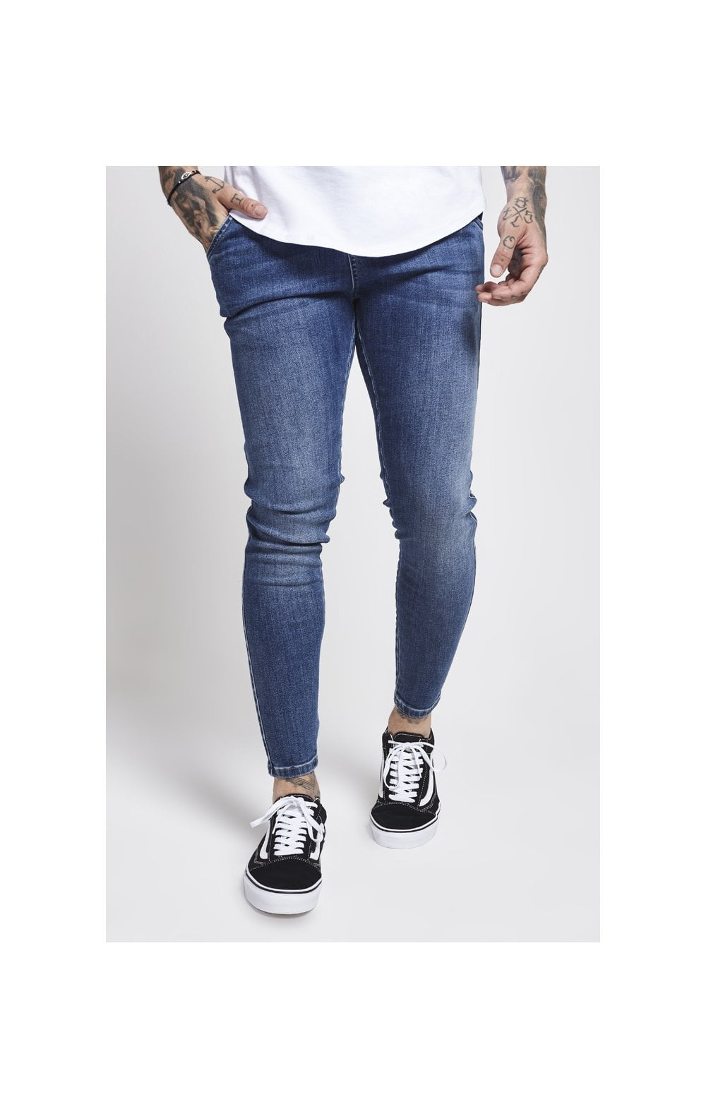 Load image into Gallery viewer, SikSilk Drop Crotch Denims – Midstone (2)
