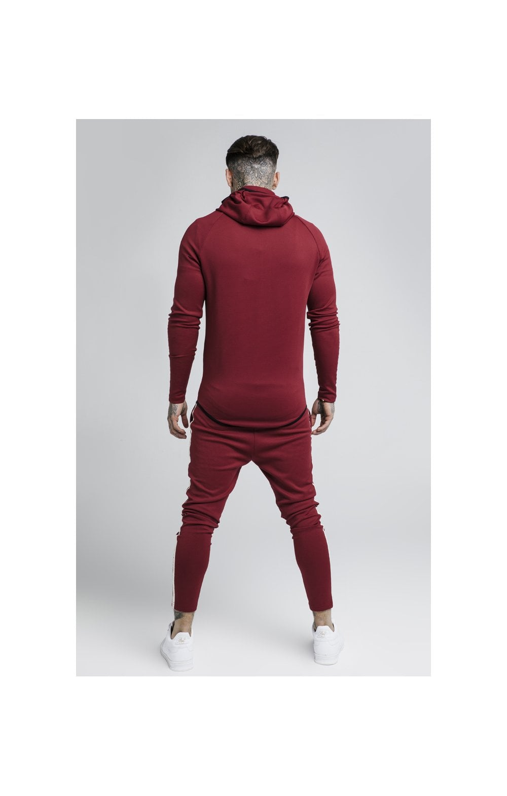 Load image into Gallery viewer, SikSilk Tech Athlete Zip Through Hoodie – Burgundy (5)