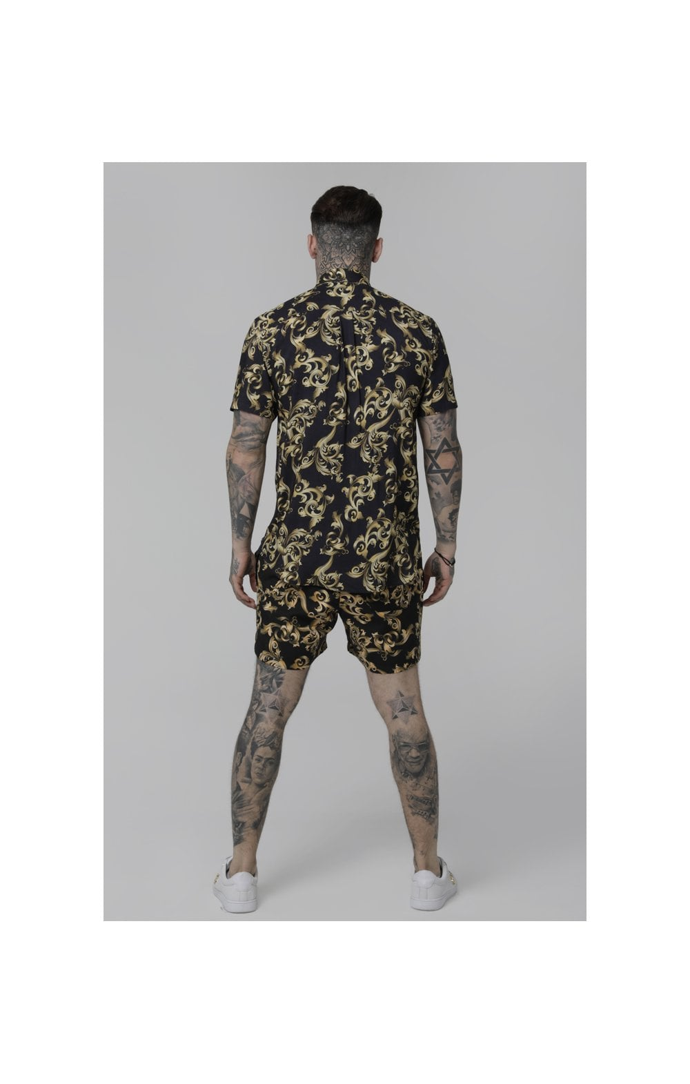 SikSilk S/S Resort Shirt – Navy Venetian (3)