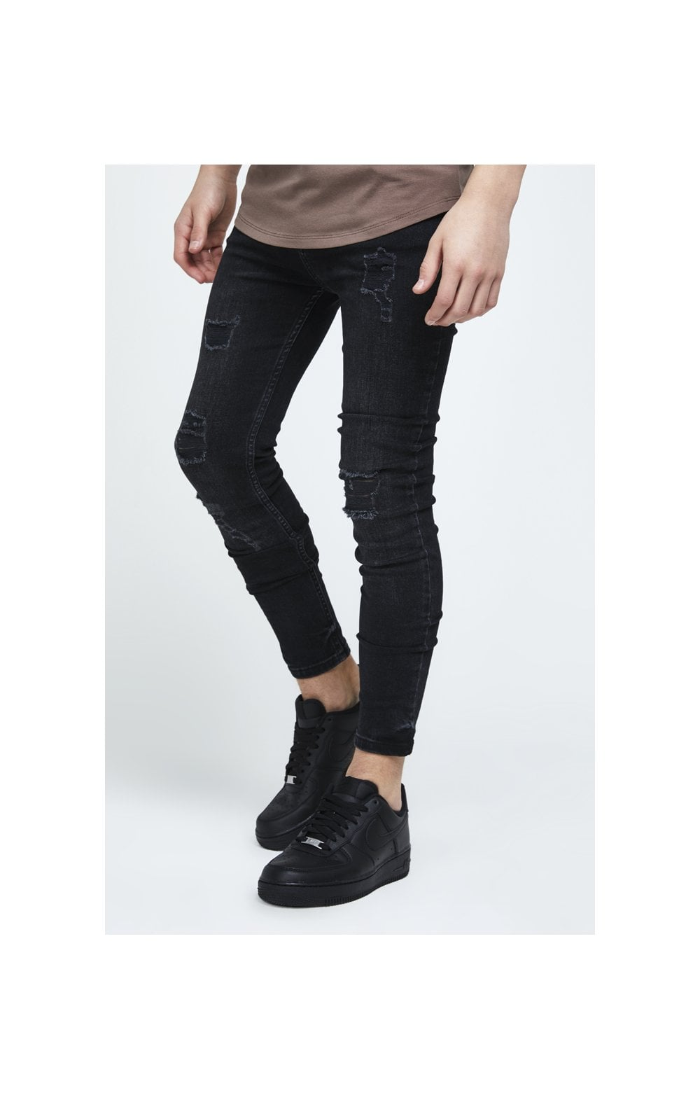 Illusive London Skinny Washed Denims - Black