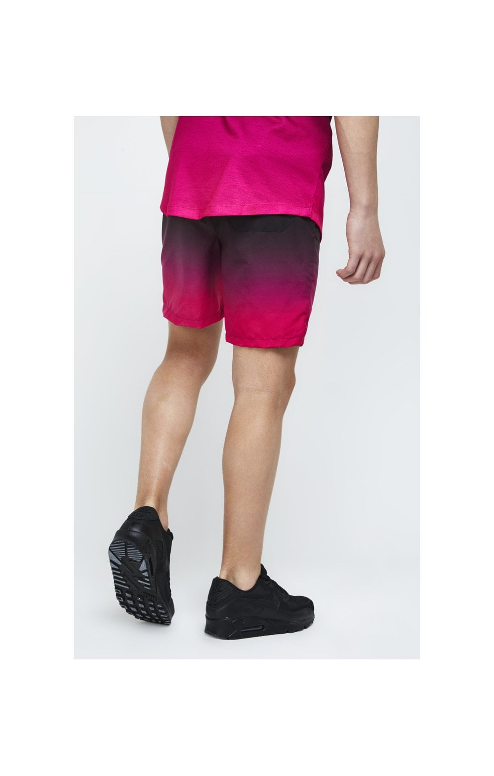 Illusive London Swim Shorts - Black & Pink (2)