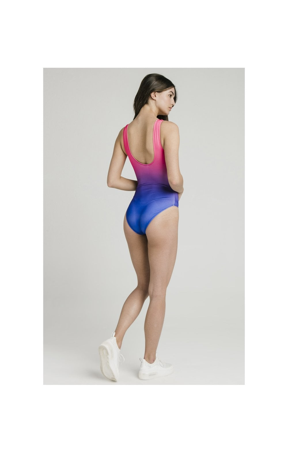 SikSilk Fade Swimsuit – Blue & Pink (3)