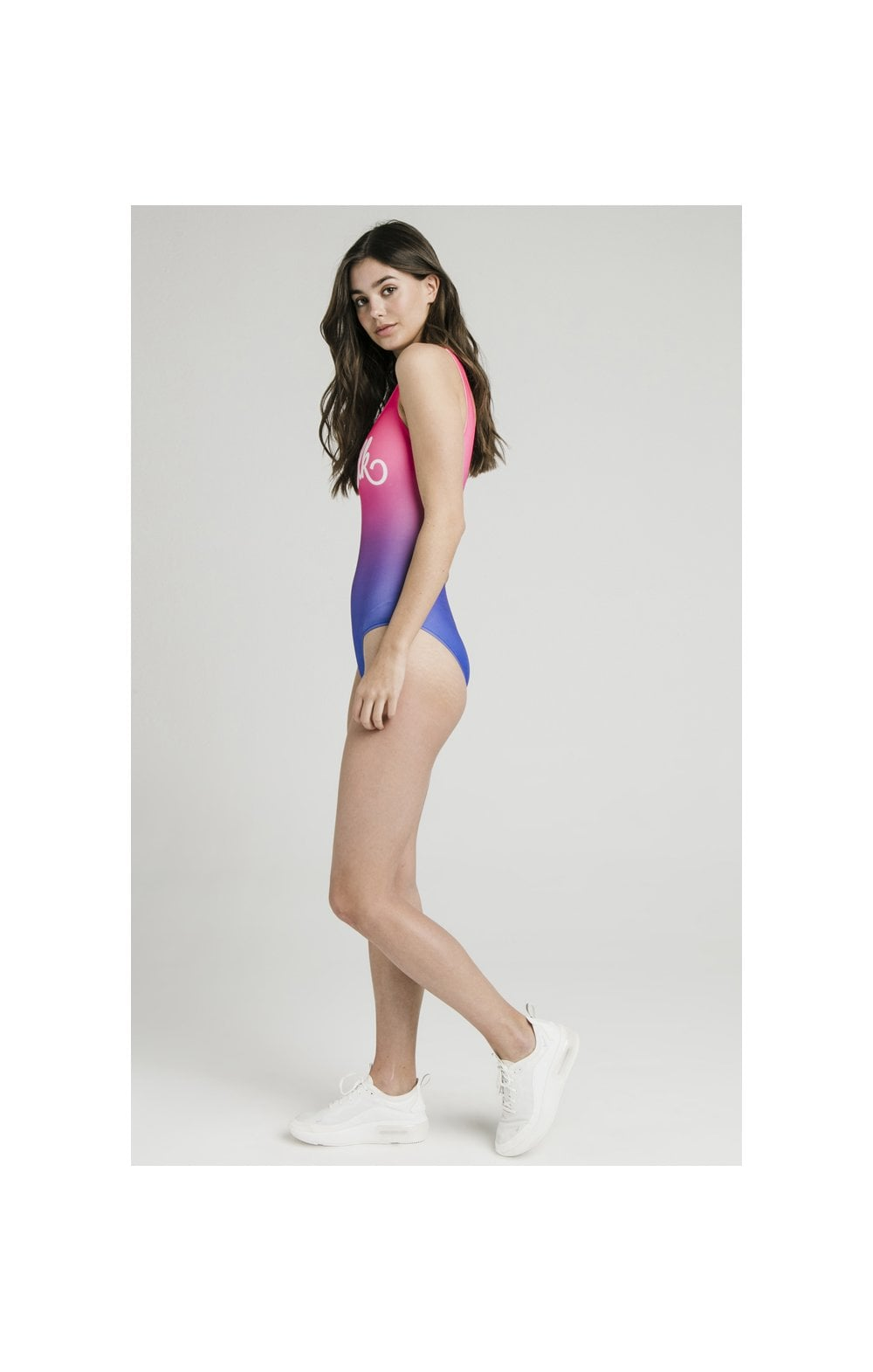 SikSilk Fade Swimsuit – Blue & Pink (4)