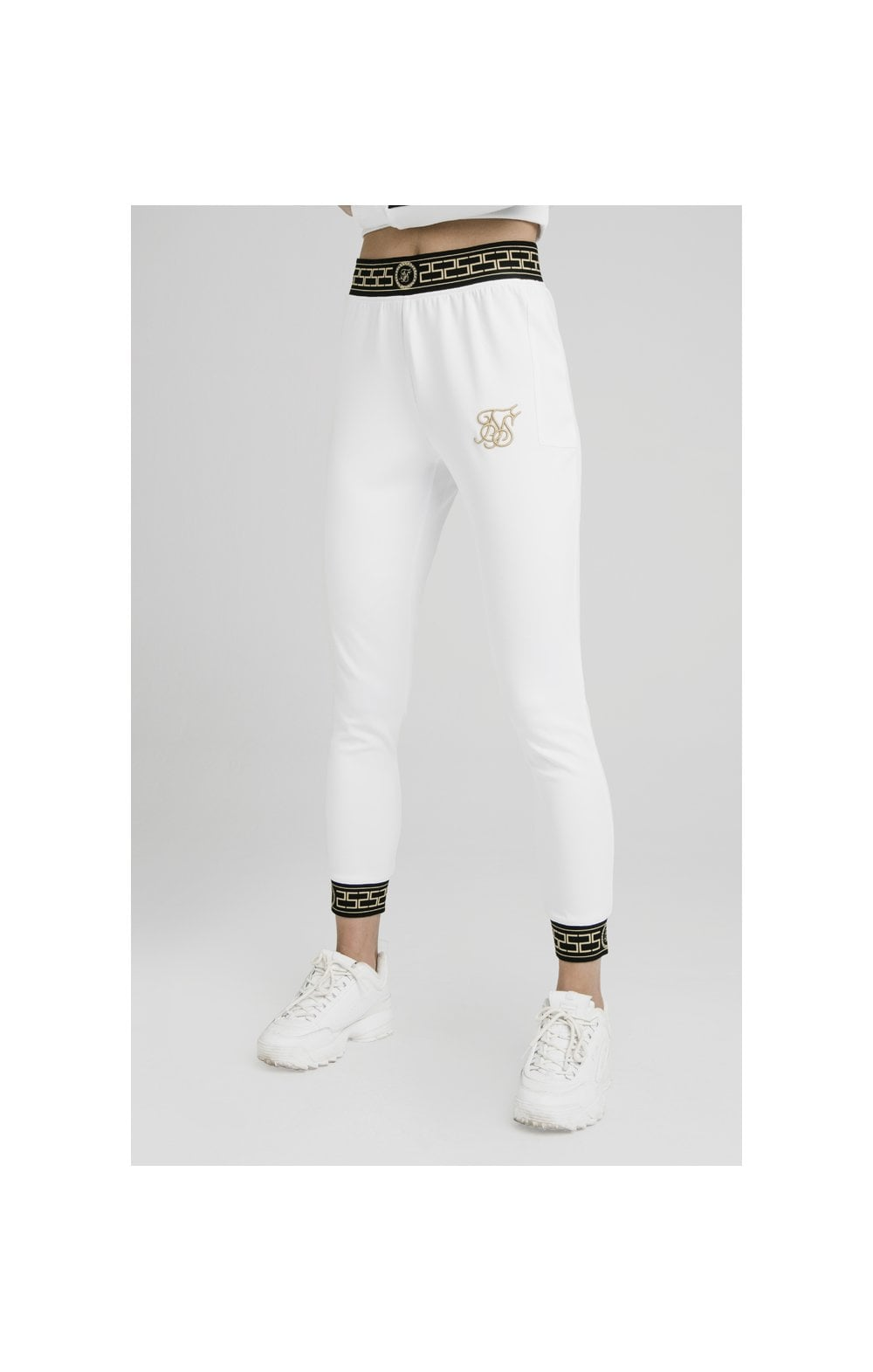 Load image into Gallery viewer, SikSilk Athena Agility Joggers – White