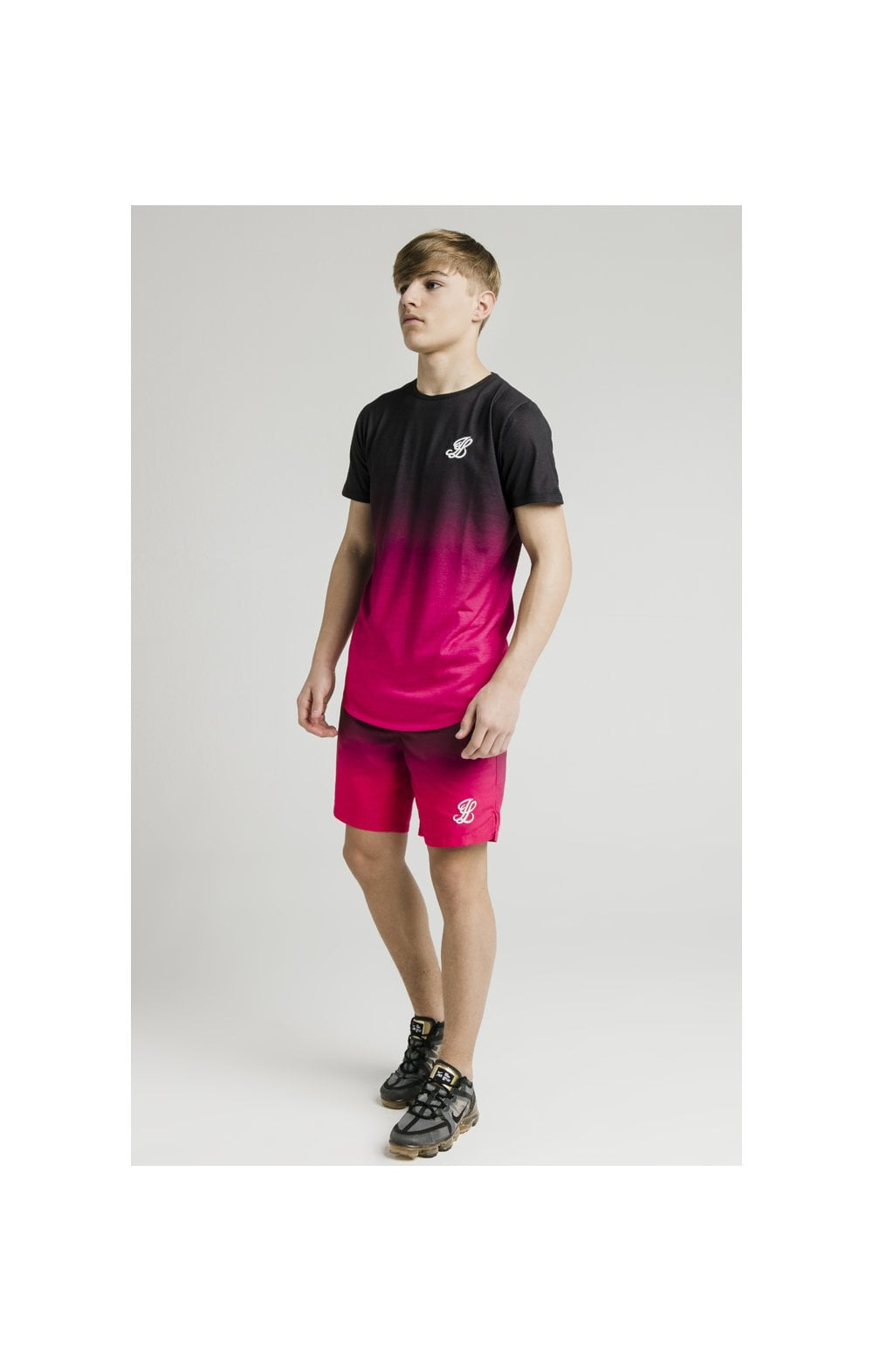 Illusive London Swim Shorts - Black & Pink (7)