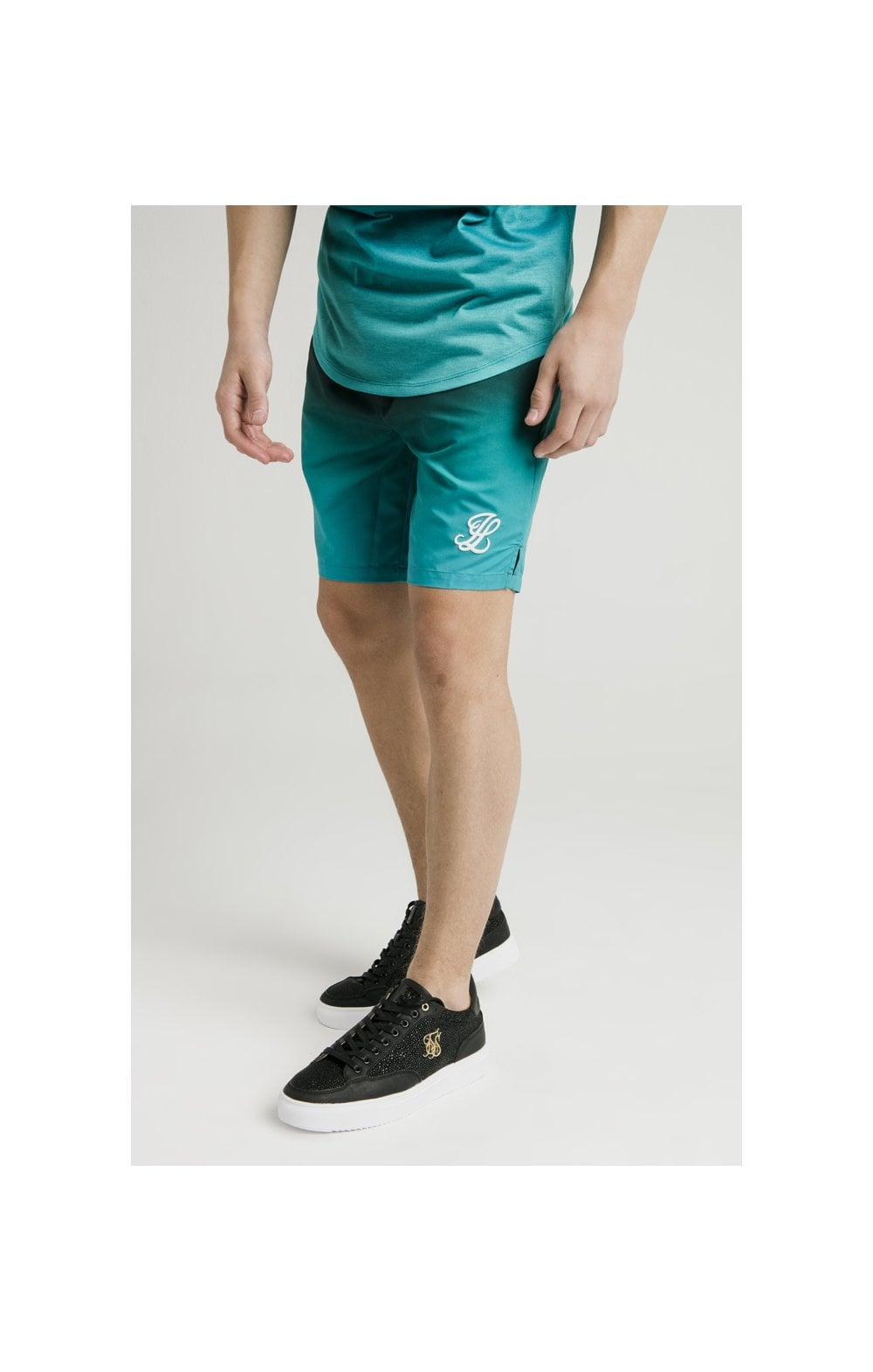 Illusive London Swim Shorts - Black & Green