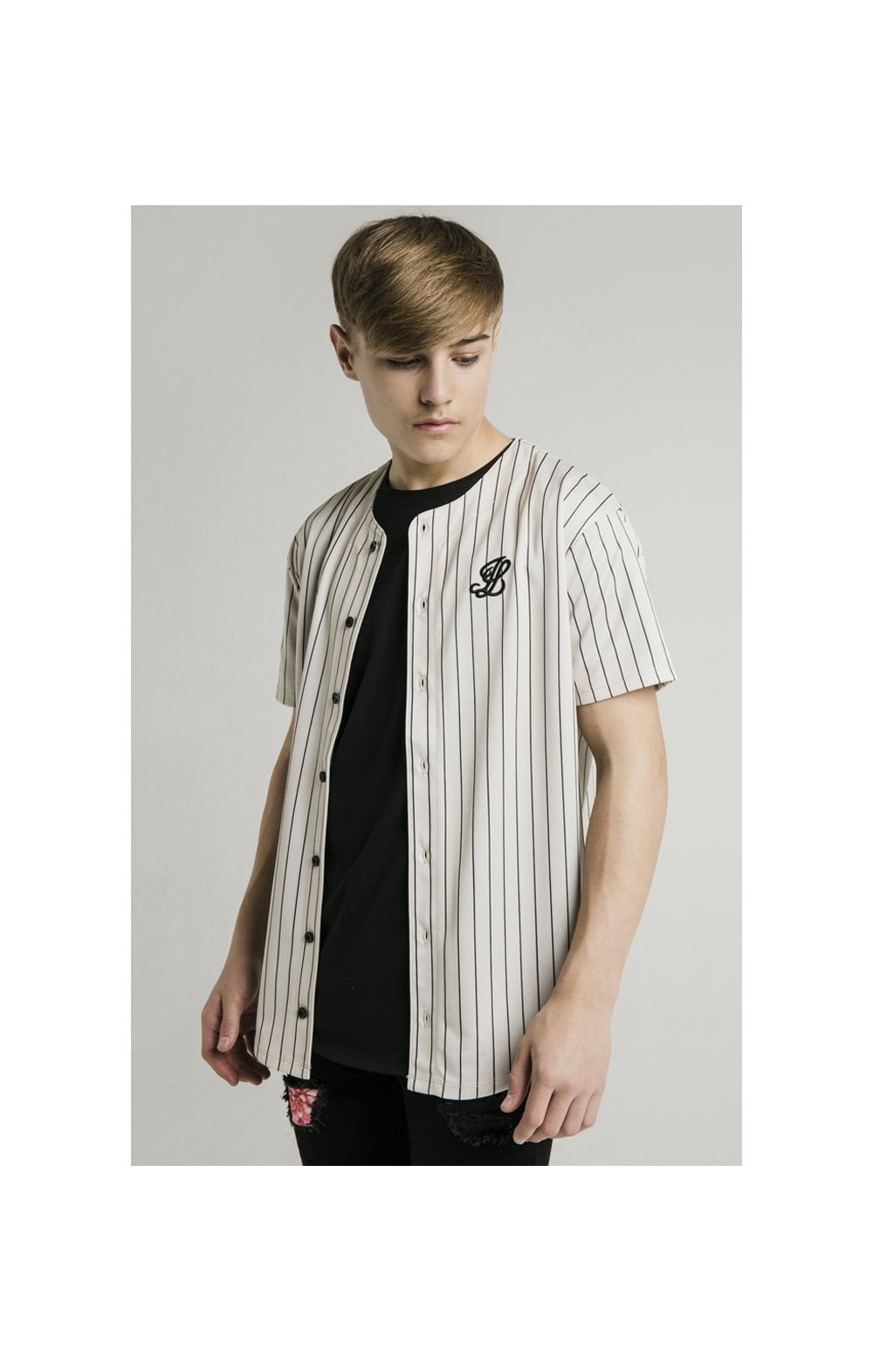 Load image into Gallery viewer, Illusive London Baseball Jersey - Ecru (1)