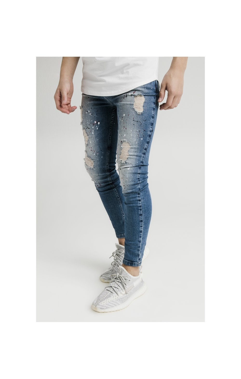 Illusive London Riot Skinny Denims - Dark Blue