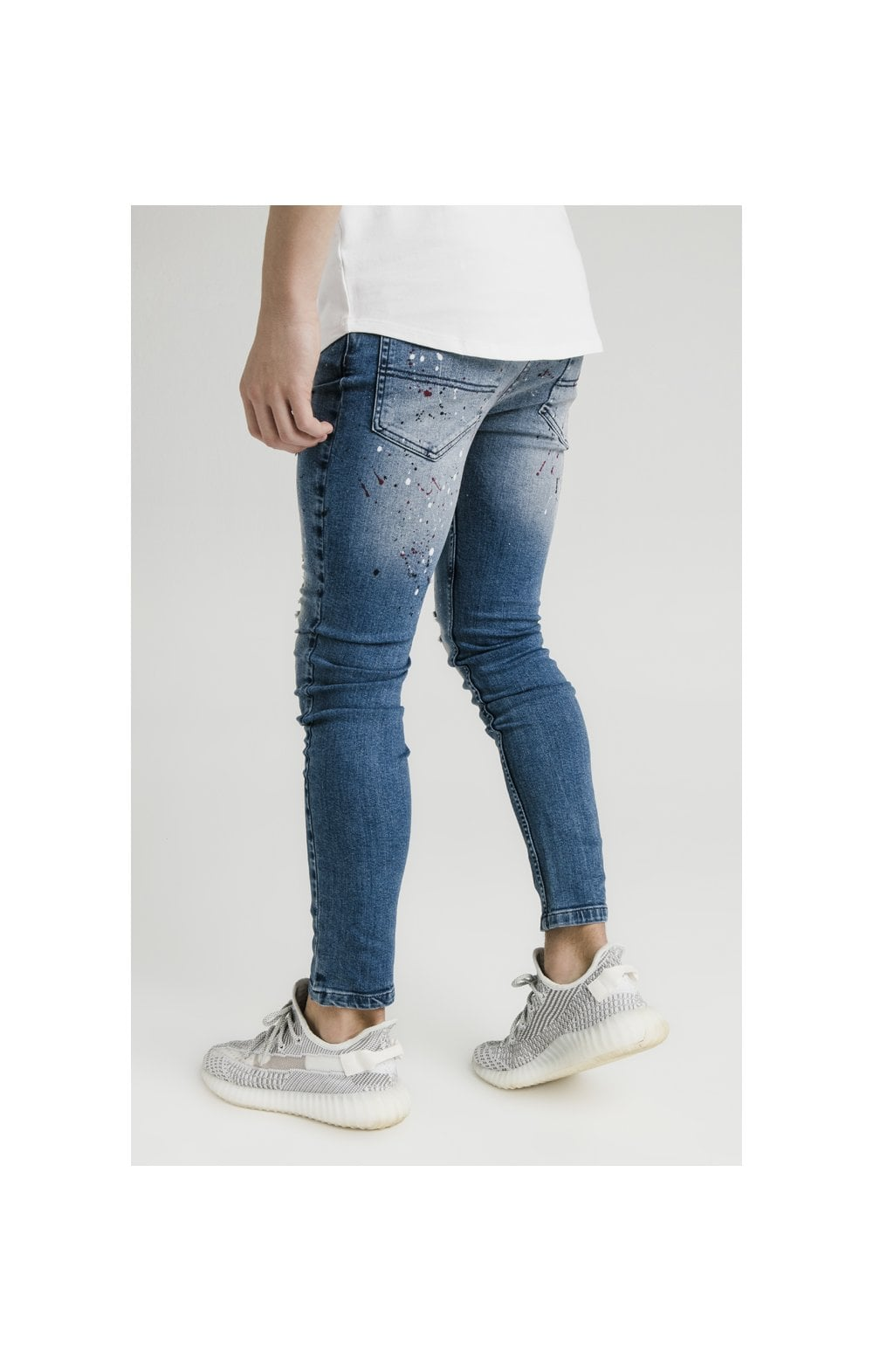 Load image into Gallery viewer, Illusive London Riot Skinny Denims - Dark Blue (3)