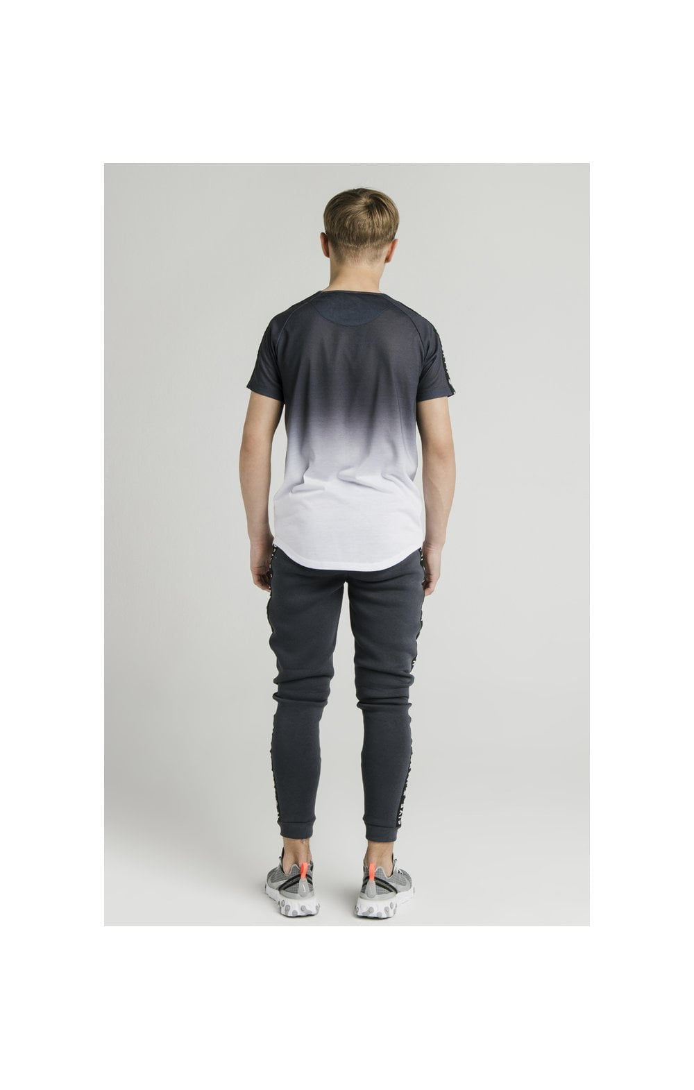 Load image into Gallery viewer, Illusive London S/S Fade Taped Tee - Grey & White (9)