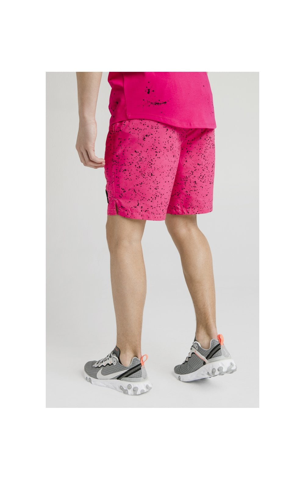 Illusive London Swim Shorts - Black & Pink (1)