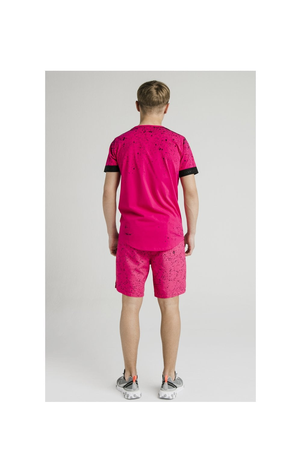 Load image into Gallery viewer, Illusive London Swim Shorts - Black & Pink (5)