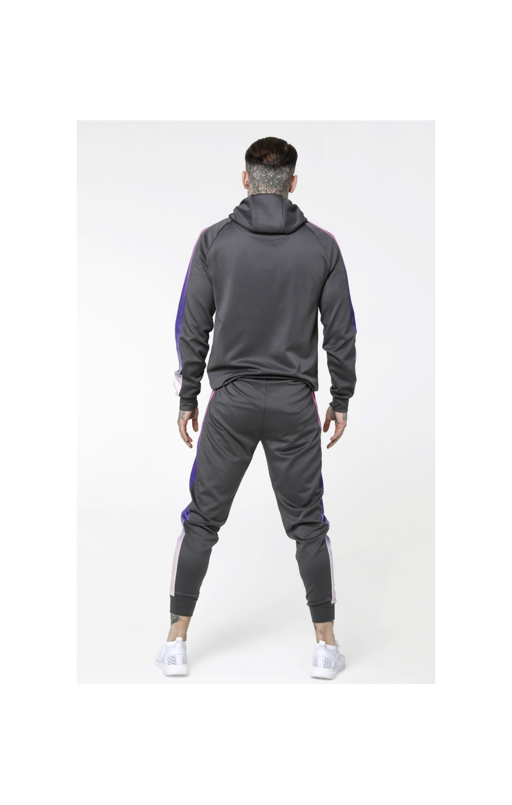 Load image into Gallery viewer, SikSilk Poly Overhead Fade Panel Hoodie - Urban Grey & Neon Tri Fade (5)