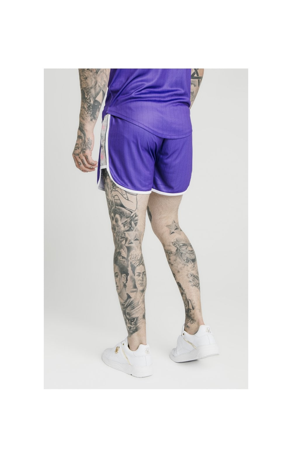 Load image into Gallery viewer, SikSilk Tape Trails Runner Shorts – Purple (1)