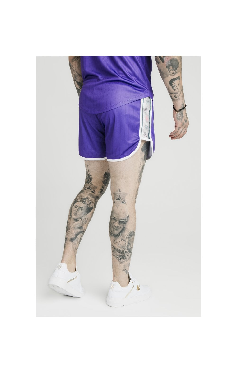 Load image into Gallery viewer, SikSilk Tape Trails Runner Shorts – Purple (2)